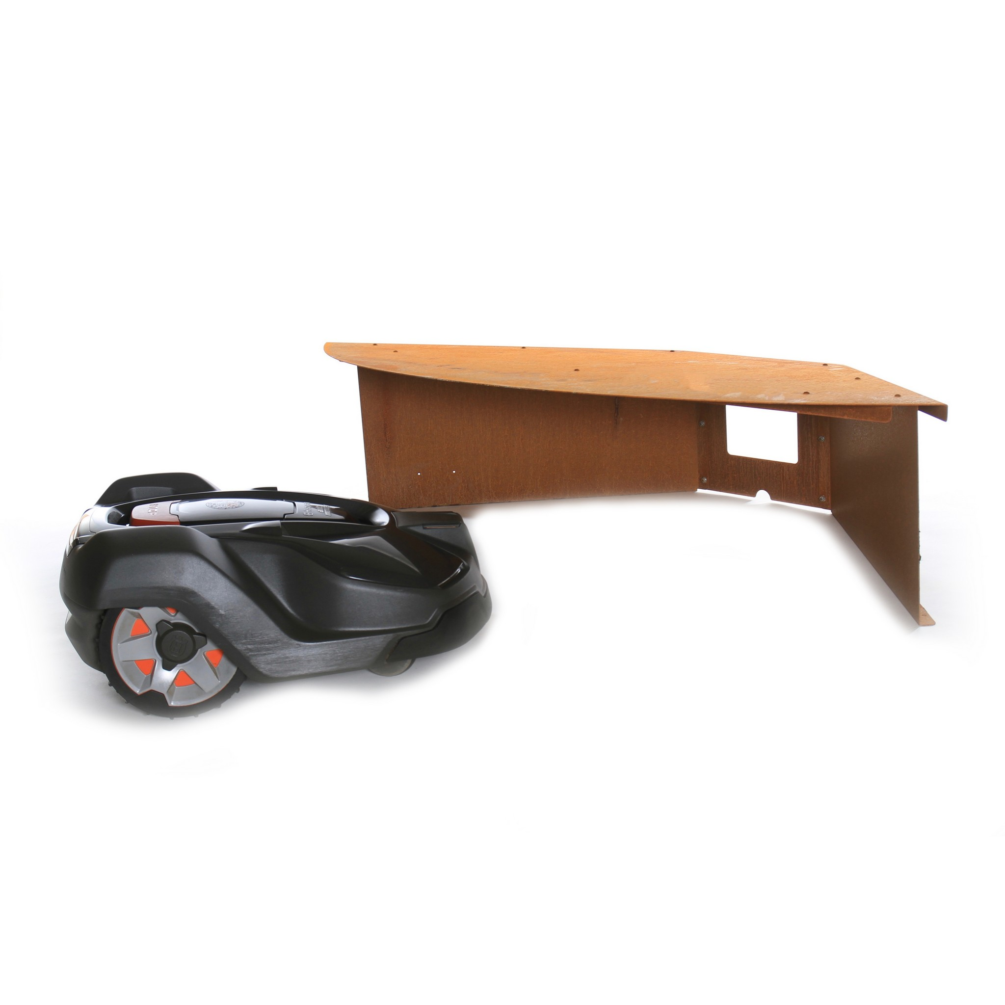 Robotmaaier garage model Luifel Hoek
