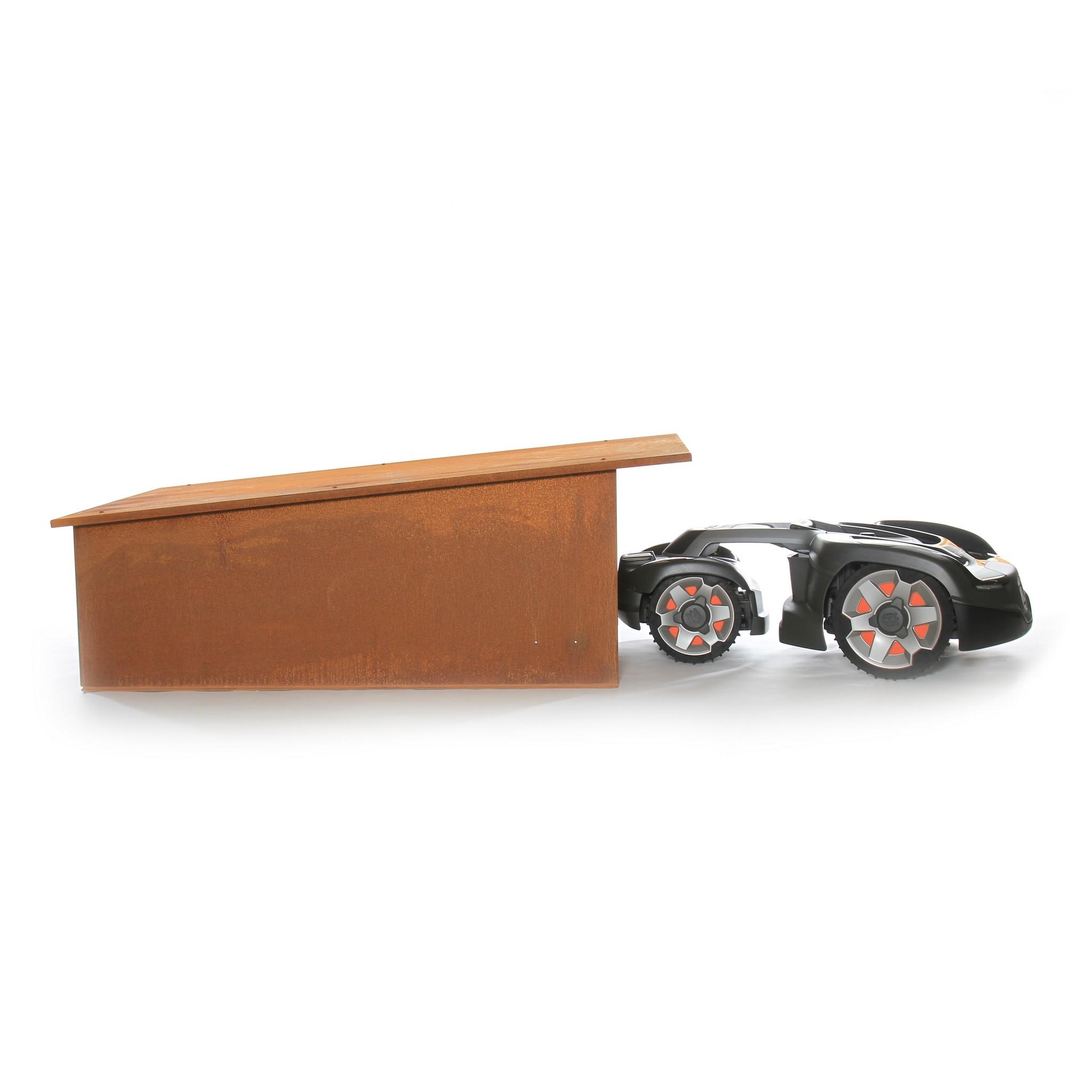 Robotmaaier garage model Luifel XL