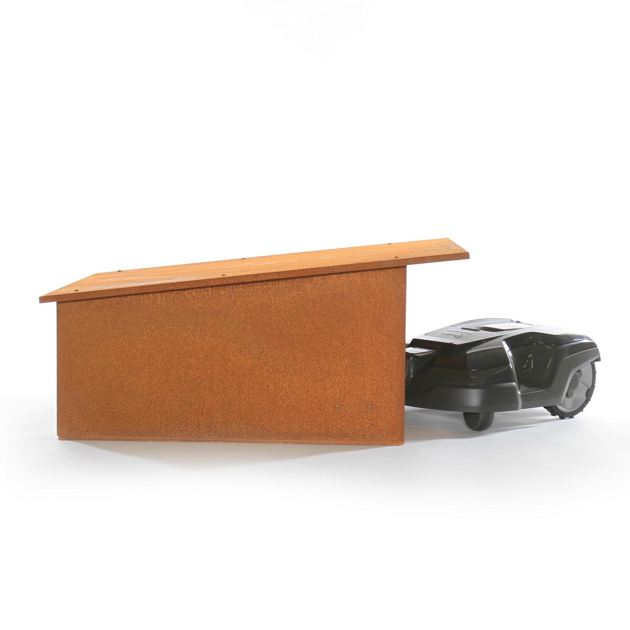 Robotmaaier garage model Luifel