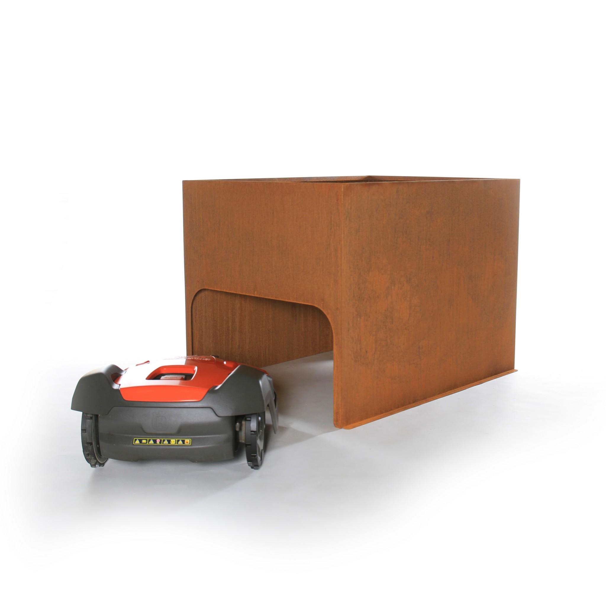 Robotmaaier garage model Plantenbak XL