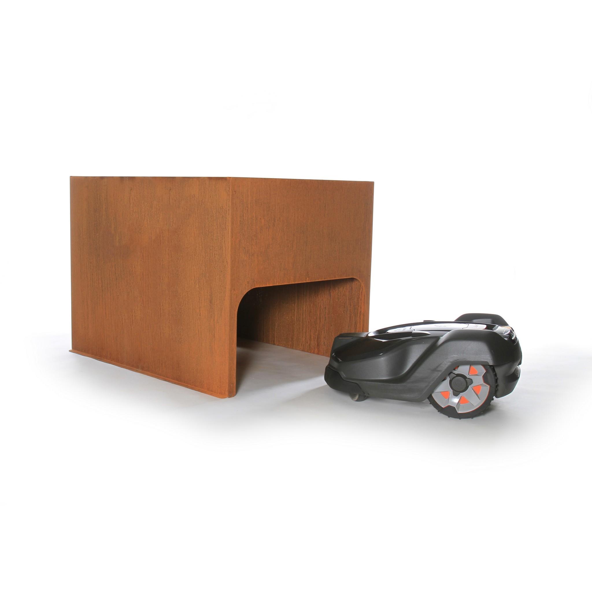 Robotmaaier garage model Plantenbak